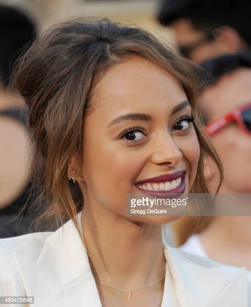Actress Amber Stevens arrives at the Los Angeles premiere of 22 Jump Street at Regency Village Theatre on June 10 2014 in Westwood California