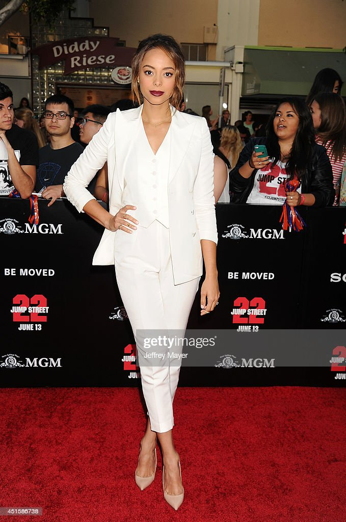 Actress Amber Stevens arrives at the Los Angeles premiere of '22 Jump Street' at Regency Village Theatre on June 10, 2014 in Westwood, California.