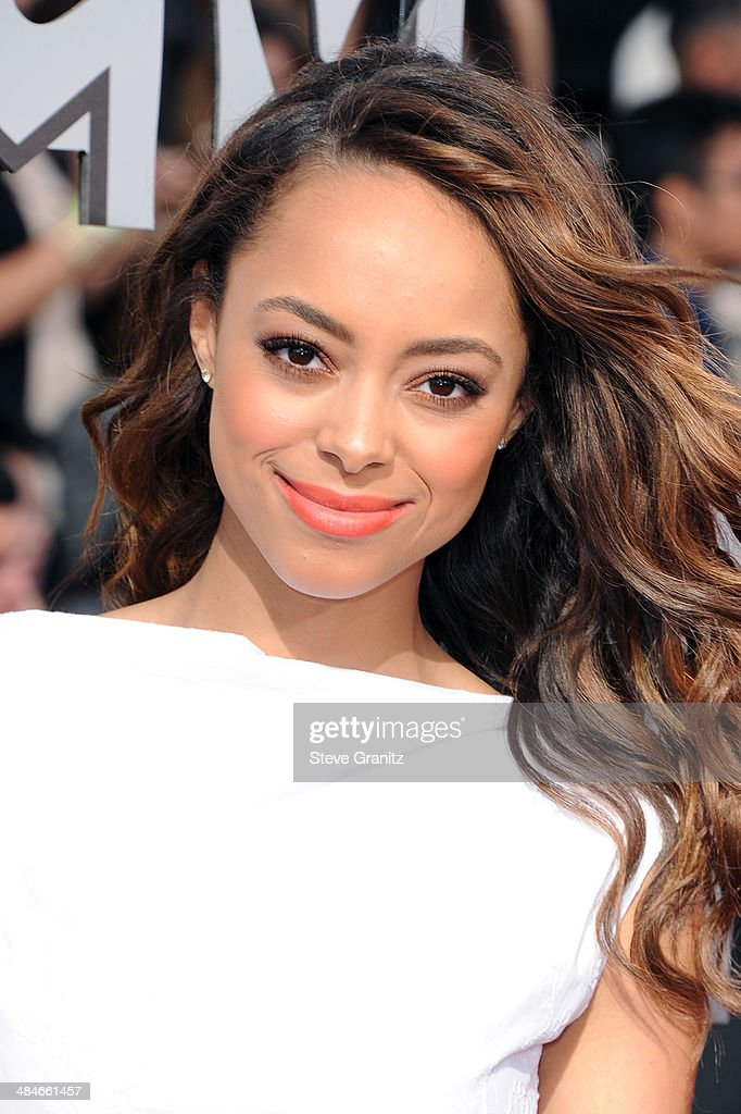 Actress Amber Stevens attends the 2014 MTV Movie Awards at Nokia Theatre L.A. Live on April 13, 2014 in Los Angeles, California.