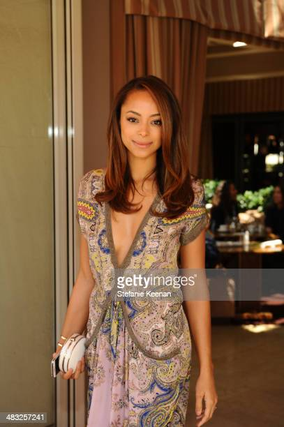 Actress Amber Stevens attends Vogue Lunch In Celebration Of The Etro Spring Collection Hosted By Sally Singer at Sunset Tower Hotel on April 3 2014...