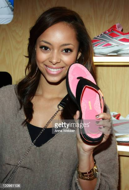 Actress Amber Stevens poses at Reebok during the Kari Feinstein Golden Globes Style Lounge at Zune LA on January 15 2010 in Los Angeles California
