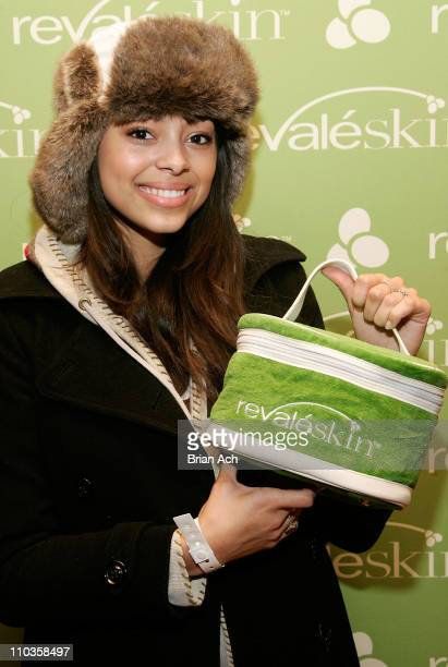 Actress Amber Stevens visits the Revaleskin Rejuvenation Lounge at the Phoenix Gallery on January 20 2008 in Park City Utah