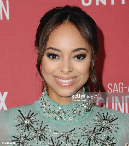Actress Amber Stevens West arrives at SAGAFTRA Foundation Patron of the Artists Awards 2017 on November 9 2017 in Beverly Hills California