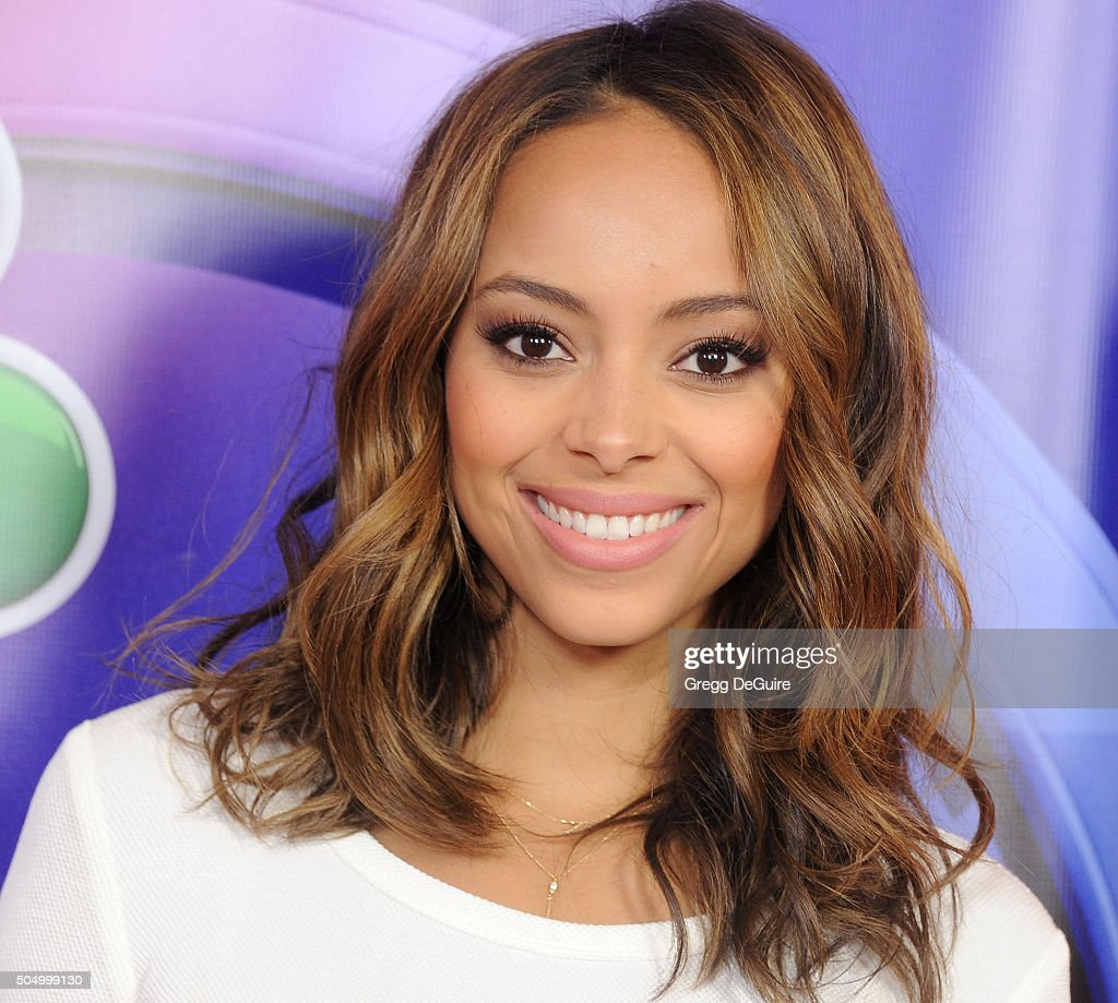 Actress Amber Stevens West arrives at the 2016 NBCUniversal Winter TCA Press Tour at Langham Hotel on January 13, 2016 in Pasadena, California.