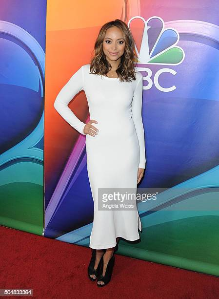 Actress Amber Stevens West arrives at the 2016 Winter TCA Tour NBCUniversal Press Tour at Langham Hotel on January 13 2016 in Pasadena California