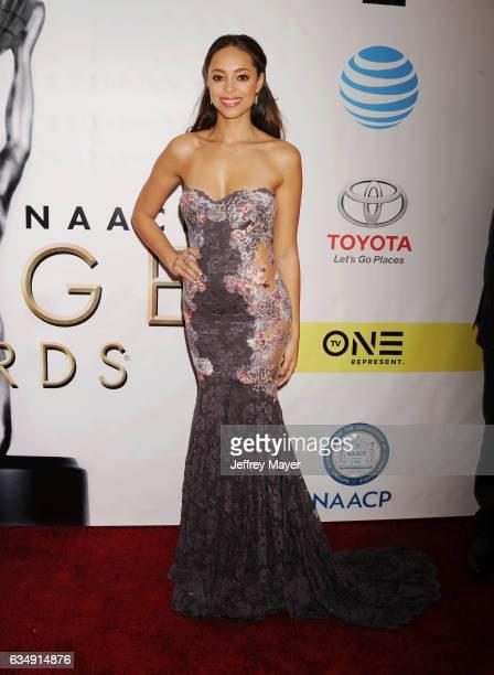 Actress Amber Stevens West arrives at the 48th NAACP Image Awards at Pasadena Civic Auditorium on February 11 2017 in Pasadena California