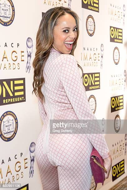 Actress Amber Stevens West arrives at the 48th NAACP Image Awards Nominees' Luncheon at Loews Hollywood Hotel on January 28 2017 in Hollywood...