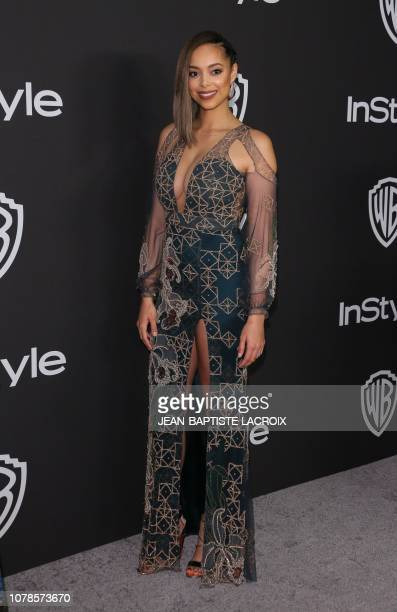 US actress Amber Stevens West arrives for the Warner Bros and In Style 20th annual post Golden Globes party at the Oasis Courtyard of the Beverly...