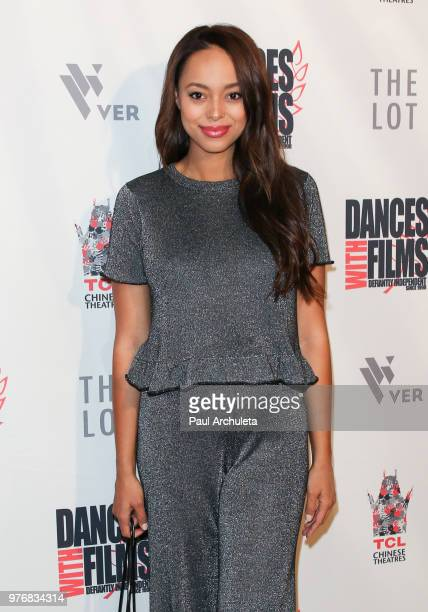 Actress Amber Stevens West attends the premiere of Antiquities at the Dances With Films Festival at the TCL Chinese 6 Theatres on June 16 2018 in...