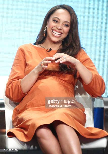 Actress Amber Stevens West of the television show 'Happy Together' speaks during the CBS segment of the Summer 2018 Summer Television Critics...