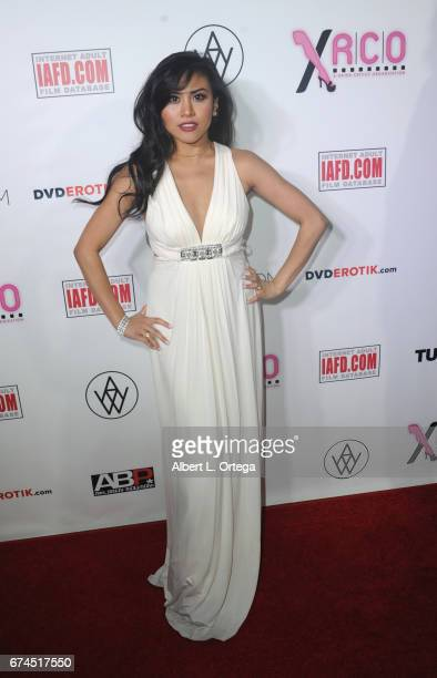 Actress Amber Stone arrives for the 33rd Annual XRCO Awards Show held at OHM Nightclub on April 27 2017 in Hollywood California