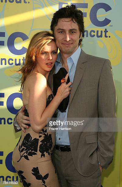 Actress Amber Tamblyn and ator Zach Braff attend the Independent Film Channel's 2007 Spirit Awards After Party held at Shutters on the Beach on...
