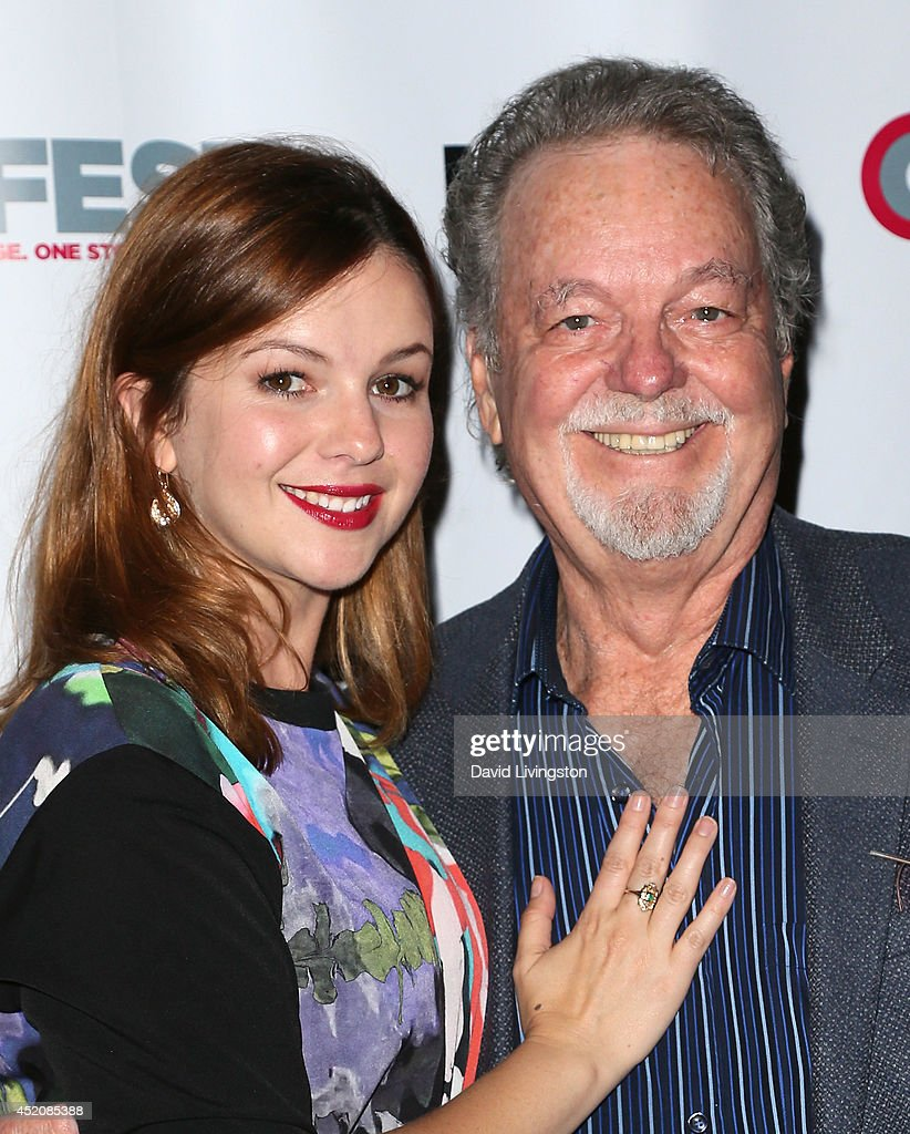 Actress Amber Tamblyn (L) and father actor Russ Tamblyn attend the 2014 Outfest Los Angeles screening of 'X/Y' at the Directors Guild of America on July 12, 2014 in Los Angeles, California.