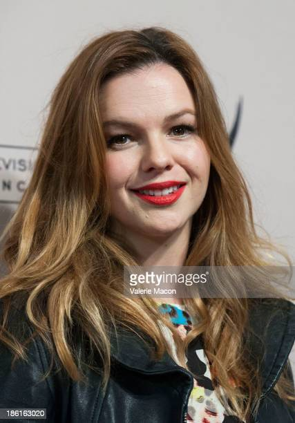 Actress Amber Tamblyn arrives at '10 Years After The Prime Time Closet A History Of Gays And Lesbians On TV' at Academy of Television Arts Sciences...