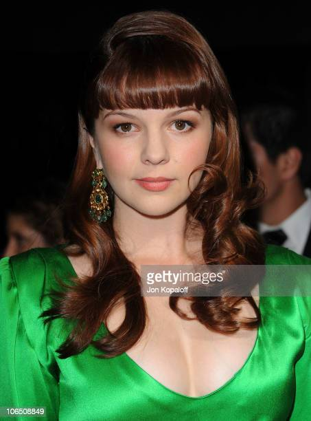 Actress Amber Tamblyn arrives at the Los Angeles Premiere 127 Hours at AMPAS Samuel Goldwyn Theater on November 3 2010 in Beverly Hills California