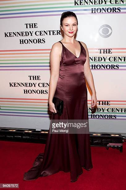 Actress Amber Tamblyn arrives to the 32nd Kennedy Center Honors at Kennedy Center Hall of States on December 6 2009 in Washington DC