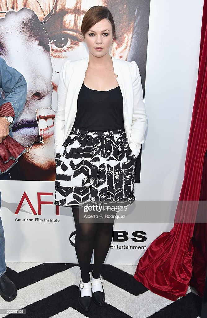 Actress Amber Tamblyn arrives to The American Film Institute Presents 'Twin Peaks-The Entire Mystery' Blu-Ray/DVD Release Screening at the Vista Theatre on July 16, 2014 in Los Angeles, California.