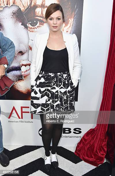 Actress Amber Tamblyn arrives to The American Film Institute Presents Twin PeaksThe Entire Mystery BluRay/DVD Release Screening at the Vista Theatre...