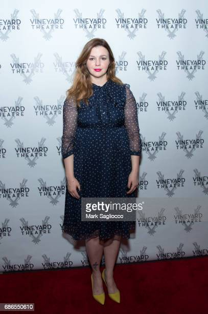 Actress Amber Tamblyn attends 'Can You Forgive Her' Opening Night at the Vineyard Theatre on May 21 2017 in New York City