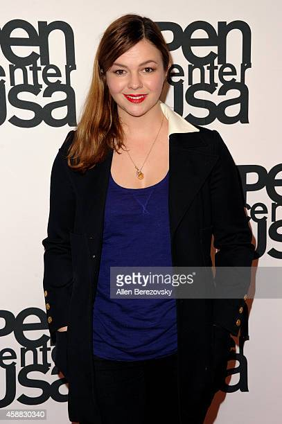 Actress Amber Tamblyn attends Pen Center USA's 24th Annual Literary Awards Festival at the Beverly Wilshire Four Seasons Hotel on November 11 2014 in...