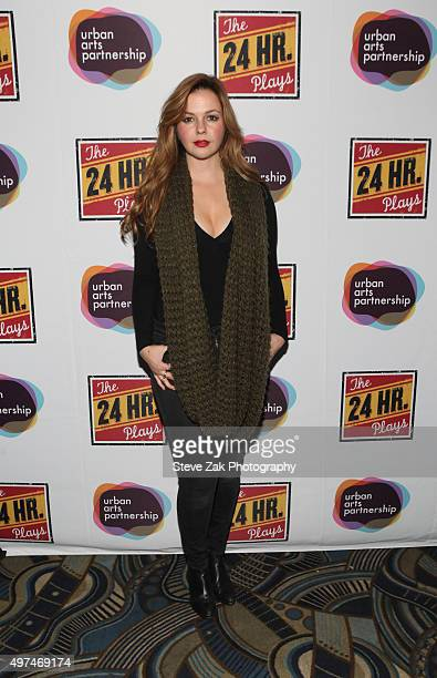 Actress Amber Tamblyn attends the 2015 24 Hour Plays On Broadway Gala at American Airlines Theatre on November 16 2015 in New York City