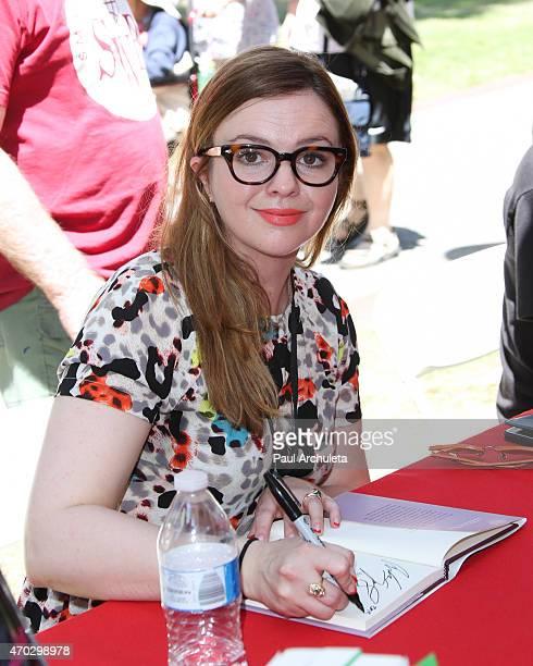Actress Amber Tamblyn attends the 2015 Los Angeles Times Festival Of Books at USC on April 18 2015 in Los Angeles California