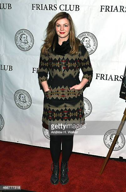 Actress Amber Tamblyn attends the Growing Up and Other Lies New York screening at The Friars Club on March 18 2015 in New York City