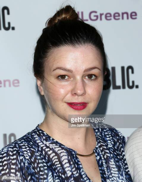 Actress Amber Tamblyn attends the 'Julius Caesar' opening night at Delacorte Theater on June 12 2017 in New York City