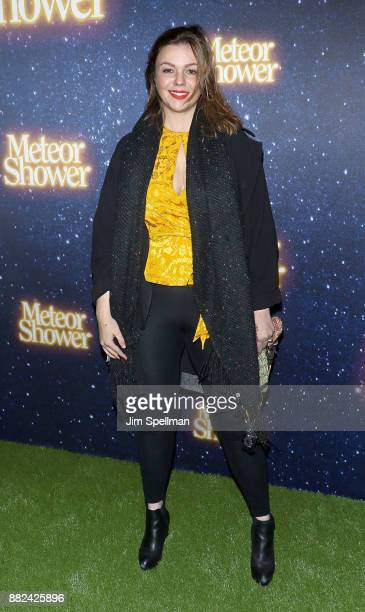 Actress Amber Tamblyn attends the 'Meteor Shower' Broadway opening night at the Booth Theatre on November 29 2017 in New York City