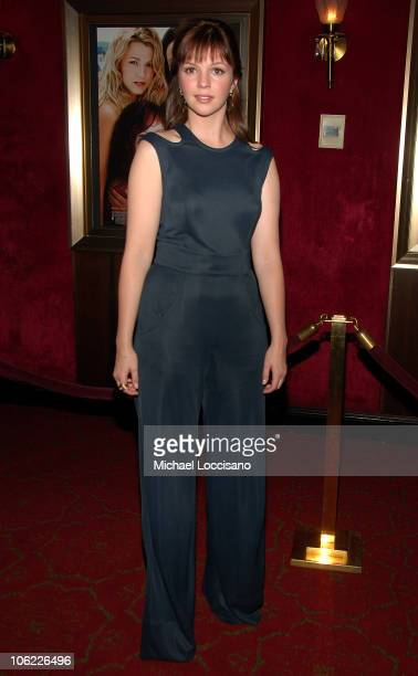 Actress Amber Tamblyn attends the premiere of The Sisterhood of the Traveling Pants 2 at the Ziegfeld Theatre on July 28 2008 in New York City