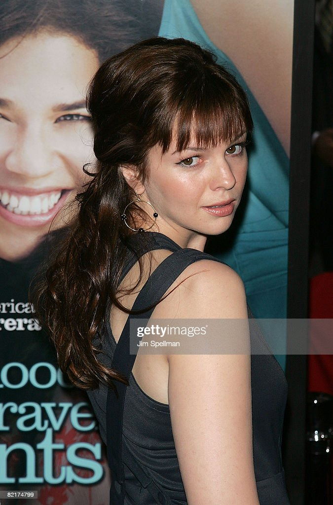 Actress Amber Tamblyn attends the premiere of 'The Sisterhood of the Traveling Pants 2' at the Ziegfeld Theatre on July 28, 2008 in New York City.