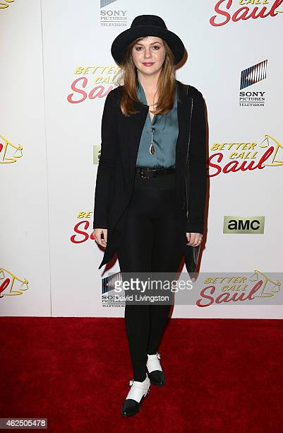 Actress Amber Tamblyn attends the series premiere of AMC's 'Better Call Saul' at Regal Cinemas LA Live on January 29 2015 in Los Angeles California