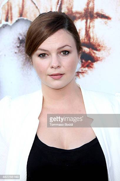 Actress Amber Tamblyn attends the Twin Peaks The Entire Mystery BluRay/DVD release party and screening held at the Vista Theatre on July 16 2014 in...