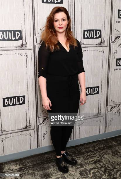 Actress Amber Tamblyn discusses her OffBroadway debut role in Can You Forgive Her at Build Studio on May 5 2017 in New York City