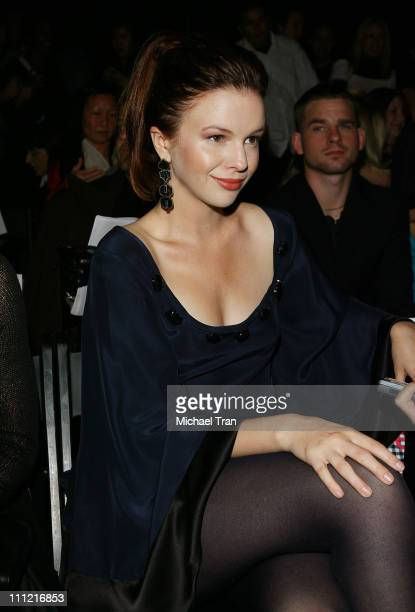 Actress Amber Tamblyn front row at Petro Zillia Spring 2008 collection during Mercedes Benz Fashion Week held at Smashbox Studios on October 18 2007...
