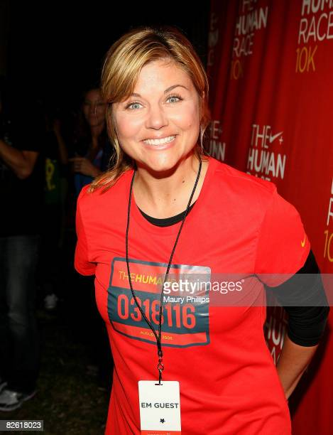 Actress Amber Thiessen attends the Nike and Human Race post run concert on August 31 2008 in Los Angeles California