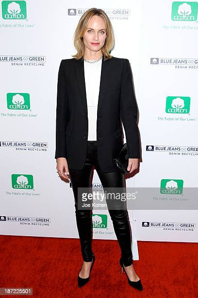Actress Amber Valleta attends Blue Jeans go green celebrates 1 Million pieces of denim collected for recycling hosted by Miles Teller at SkyBar at...