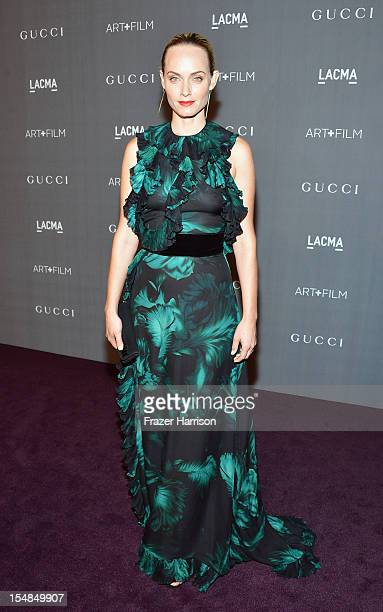 Actress Amber Valletta arrives at LACMA 2012 Art Film Gala Honoring Ed Ruscha and Stanley Kubrick presented by Gucci at LACMA on October 27 2012 in...