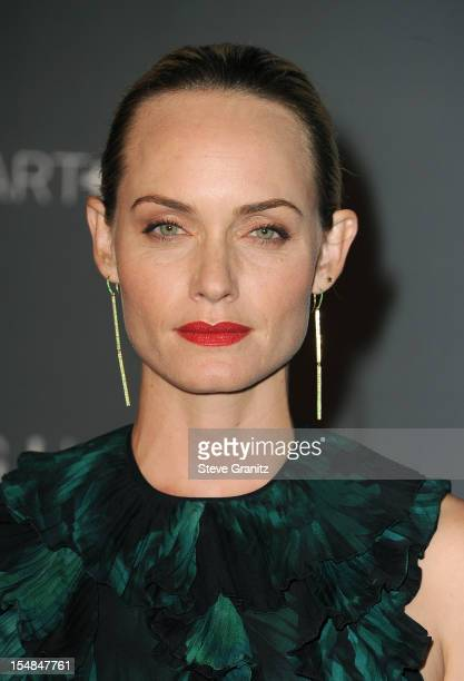 Actress Amber Valletta arrives at LACMA Art + Gala at LACMA on October 27, 2012 in Los Angeles, California.