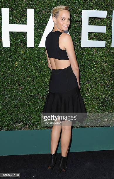 Actress Amber Valletta arrives at Michael Kors Celebrates The Launch Of Claiborne Swanson Frank's 'Young Hollywood' Portrait Book on October 2 2014...