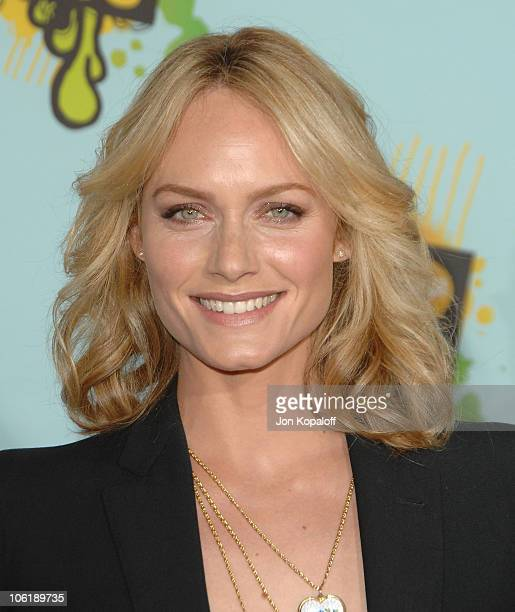 Actress Amber Valletta arrives at Nickelodeon's 2008 Kids' Choice Awards at the Pauley Pavilion on March 29 2008 in Los Angeles California