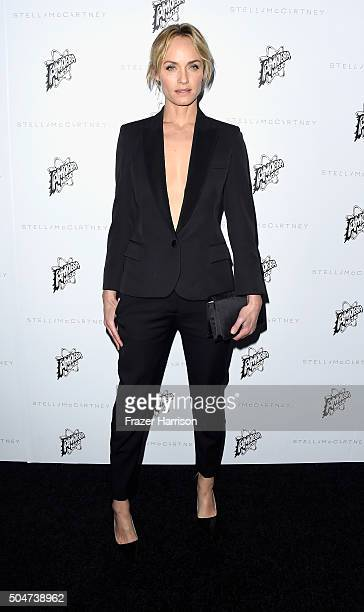 Actress Amber Valletta arrives at Stella McCartney Autumn 2016 Presentation at Amoeba Music on January 12 2016 in Los Angeles California