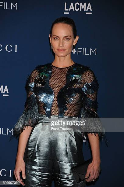 Actress Amber Valletta arrives at the LACMA 2013 Art Film Gala held at the Los Angeles County Museum of Art