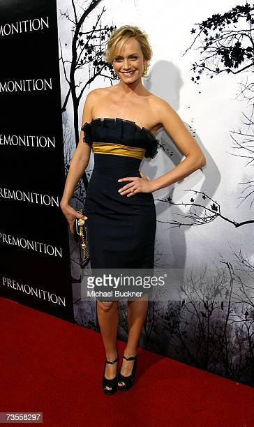 Actress Amber Valletta arrives to the TriStar premiere of Premonition at the ArcLight Hollywood Cinerama Dome March 12 2007 in Hollywood California
