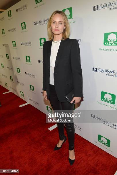 Actress Amber Valletta attends Cotton Incorporated's Blue Jeans Go Green celebrates 1 million pieces of denim collected for recycling at SkyBar at...