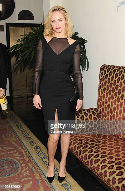 Actress Amber Valletta attends Dom Perignon and W Magazine's celebration of The Golden Globes at Chateau Marmont on January 11 2013 in Los Angeles...