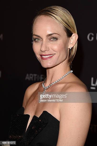 Actress Amber Valletta attends LACMA 2015 ArtFilm Gala Honoring James Turrell and Alejandro G Iñárritu Presented by Gucci at LACMA on November 7 2015...