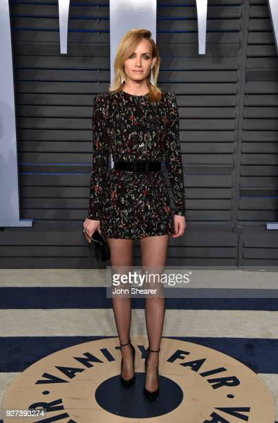 Actress Amber Valletta attends the 2018 Vanity Fair Oscar Party hosted by Radhika Jones at Wallis Annenberg Center for the Performing Arts on March...