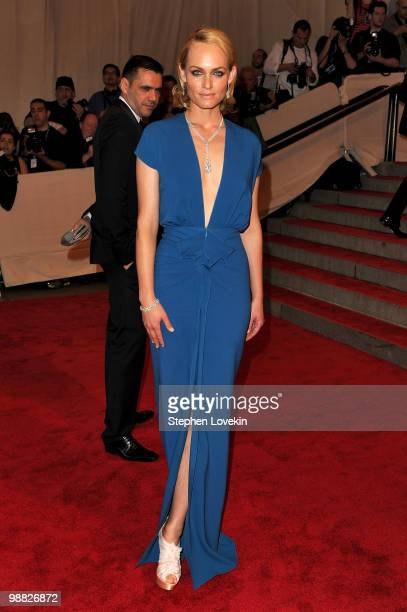 Actress Amber Valletta attends the Costume Institute Gala Benefit to celebrate the opening of the American Woman Fashioning a National Identity...