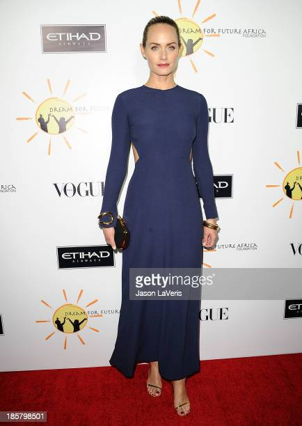 Actress Amber Valletta attends the Dream For Future Africa Foundation gala at Spago on October 24, 2013 in Beverly Hills, California.